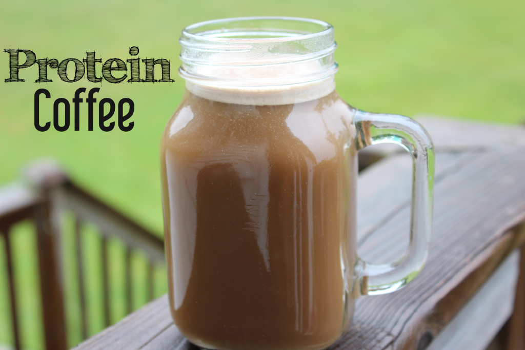 Protein Coffee Recipe; a dairy free, protein packed morning drink to kick start your day right! Only three ingredients!