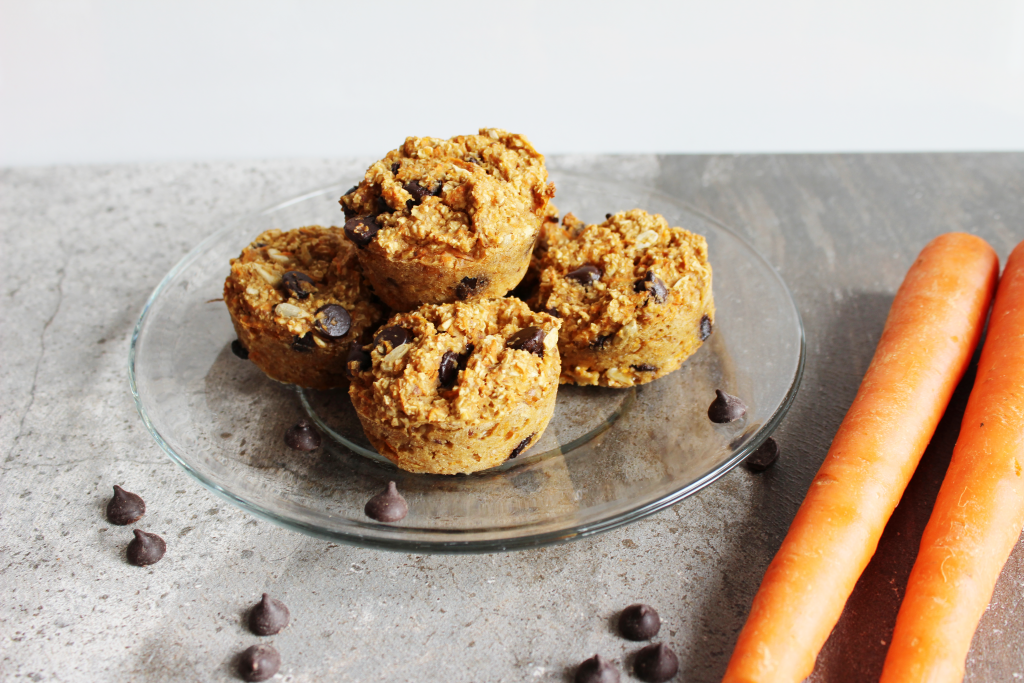 Carrot Chocolate Chip Muffins.