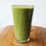 Miracle green smoothie made with spinach, aloe vera and hemp powder. This drink is vegan and gluten free.
