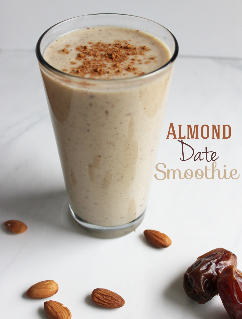 This delicious and satisfying almond and date smoothie is a healthy breakfast