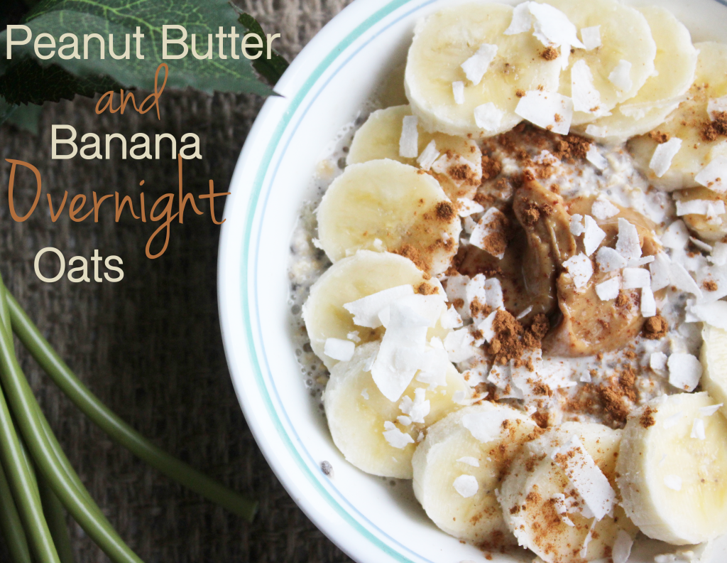 Peanut butter banana overnight oats are a delicious and easy breakfast to prep ahead of time!