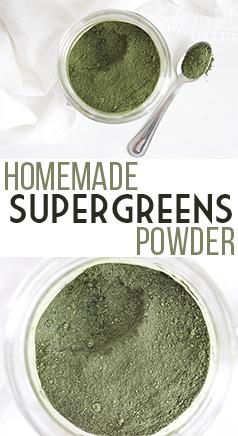 Homemade SuperGreens Powder - Gluten free & Vegan. No preservatives or additives. YUM