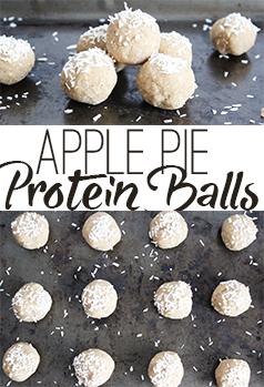 Apple Pie Protein Balls; a no bake healthy snack that tastes like thanksgiving dinner! Vegan and gluten free!