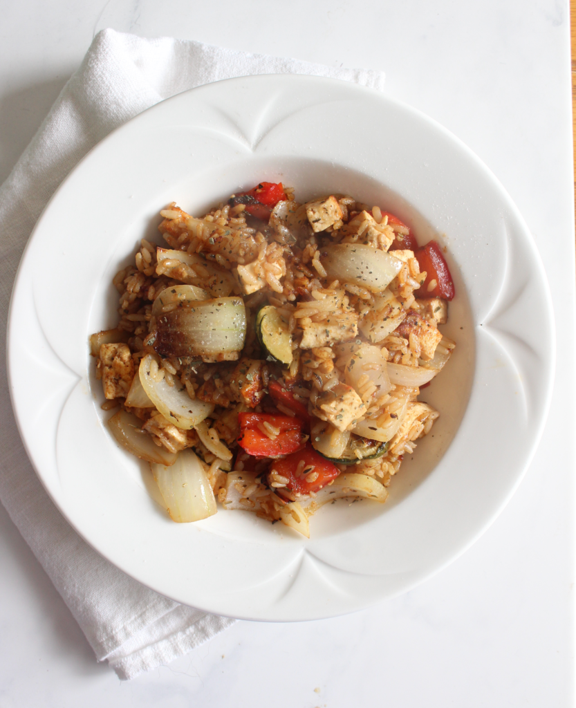 Maple Ginger Stir Fry is sweet and savory, a filling and hearty dish
