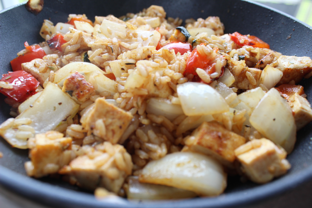 Maple Ginger Stir Fry is a satisfying and flavourful dish that's healthy and easy to make for a quick lunch