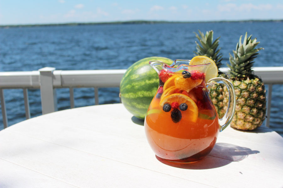 Jungle juice sangria recipe;  perfect mix of tropical pineapple, fresh watermelon, and more!