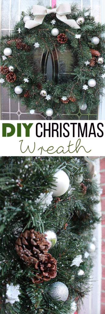 Here's how to make a simple DIY Christmas Wreath for your front door!