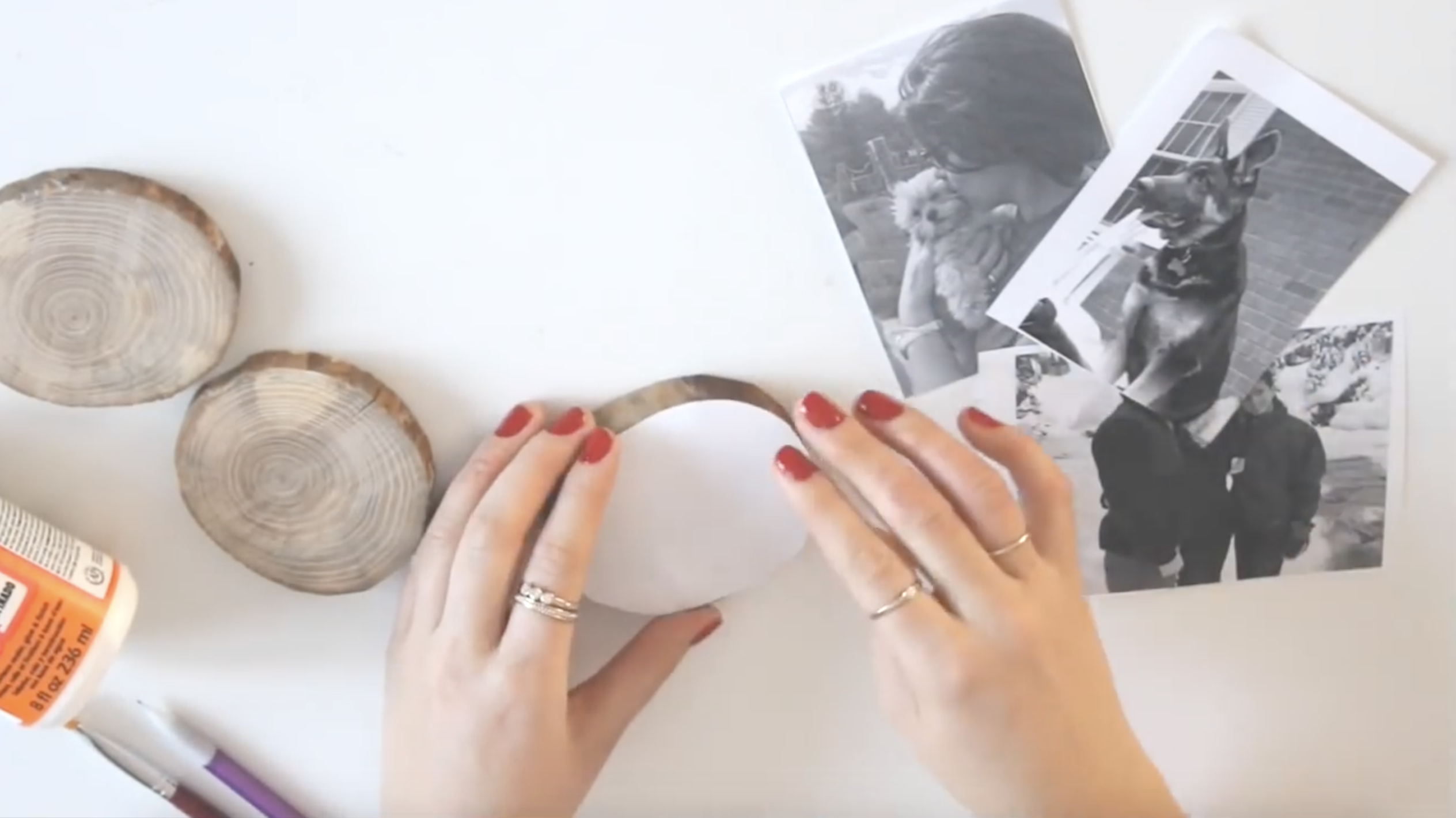 DIY Pictures on Wood Coasters; How to make wood photo coasters, easy step by step instructions.