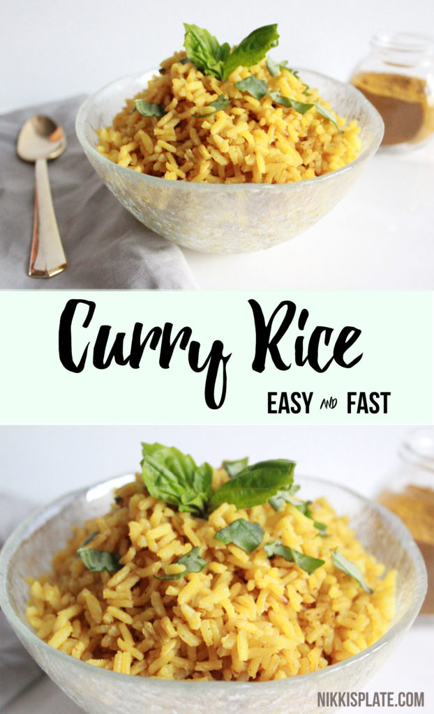 Easy Curry Rice Recipe Pin- www.nikkisplate.com