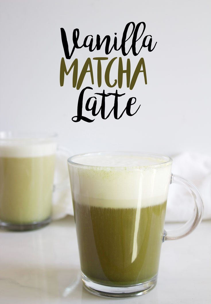 A delicious vanilla matcha latte is the perfect St. Patrick's Day Recipe to start your day with