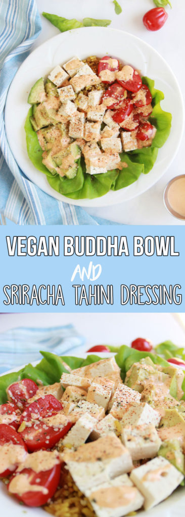 Vegan Buddha Bowl with Sriracha Tahini Dressing - www.nikkisplate.com