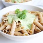 Creamy Cilantro and Avocado Penne {Gluten Free and Vegan} www.nikkisplate.com
