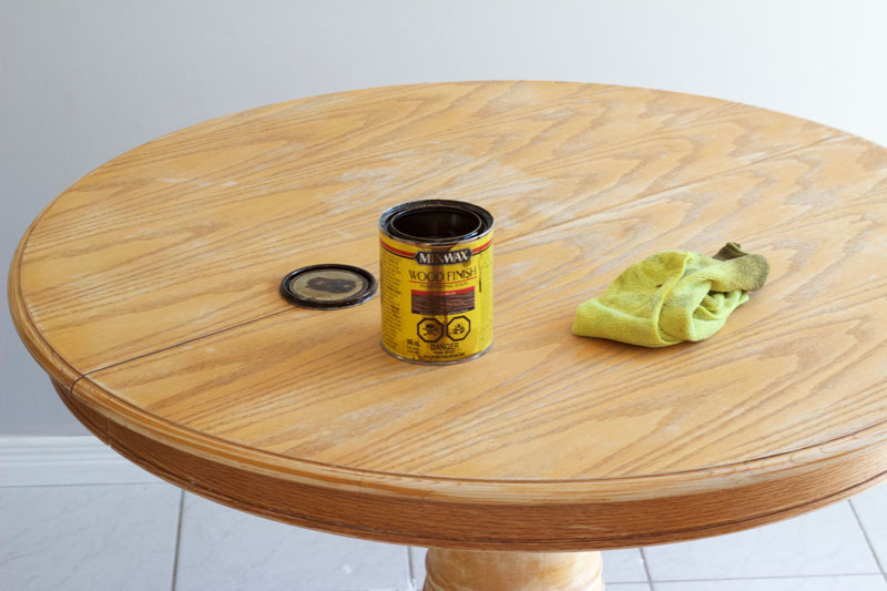 Pick your favourite wood stain for your upgraded table