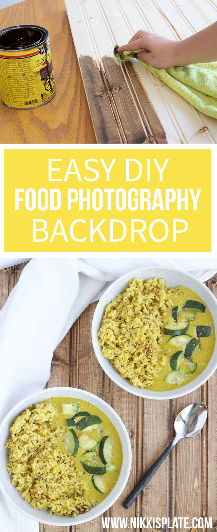 Easy DIY Food Photography Backdrop - step by step guide! - www.nikkisplate.com