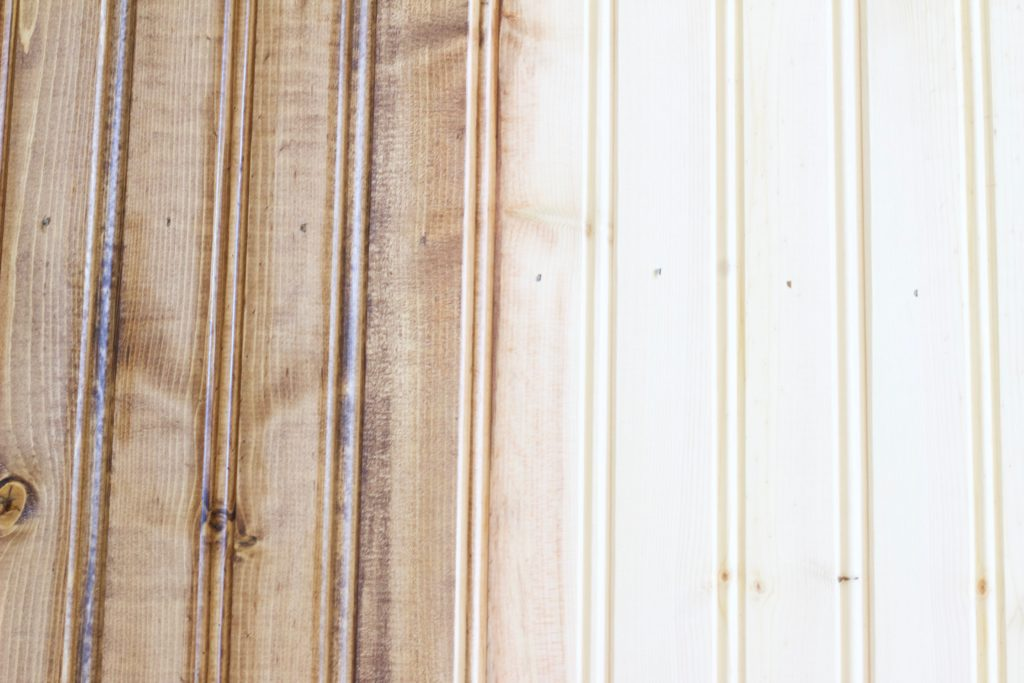 Half of the wood photography background stained, and the other half plain wood