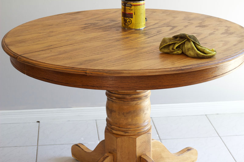 Stain the whole dining room table