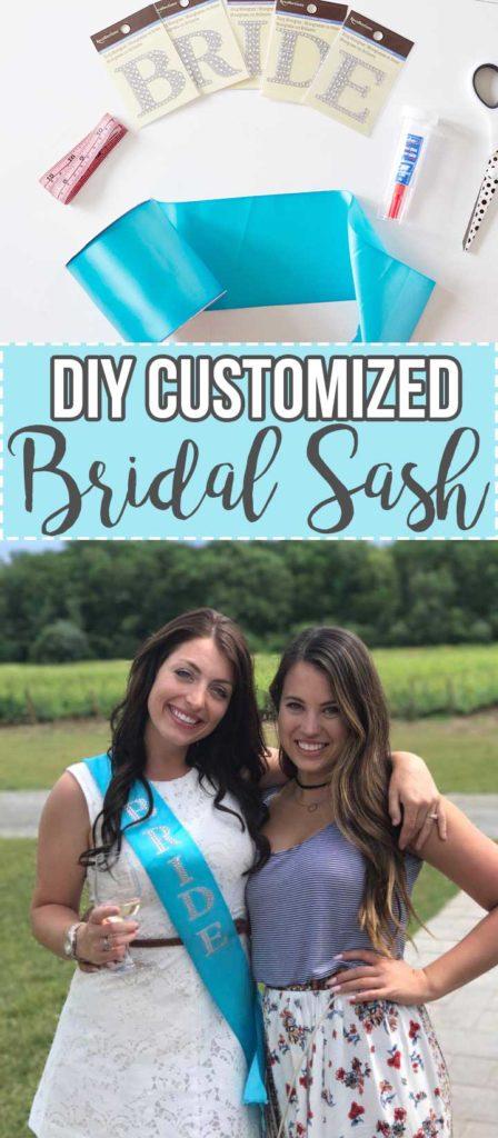 DIY Custom Bridal Sash for a Bachelorette Party - www.nikkisplate.com