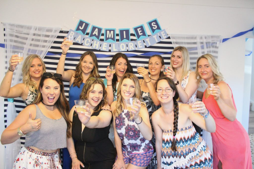 Blue Bachelorette Party Decorations for the Bride to Be! - PHOTO BACKDROP -www.nikkisplate.com