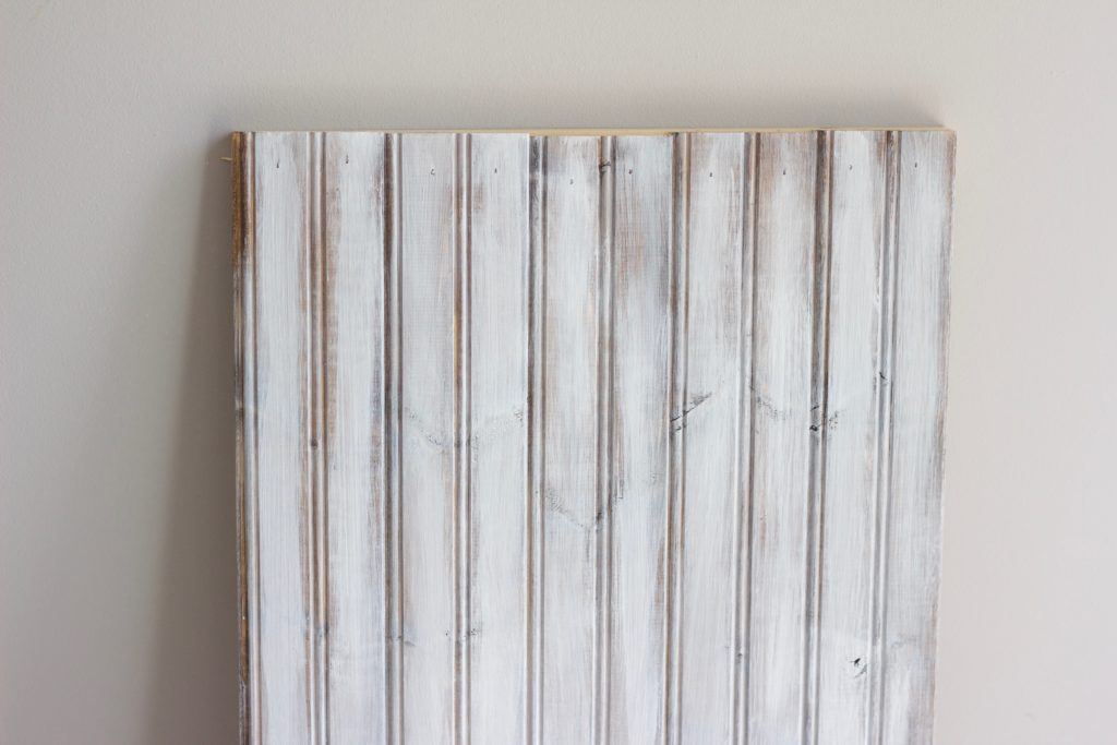 Here's how to white wash wood like a pro in just a few steps! The white washed paint look is a very popular finish for rustic and farmhouse style decor.