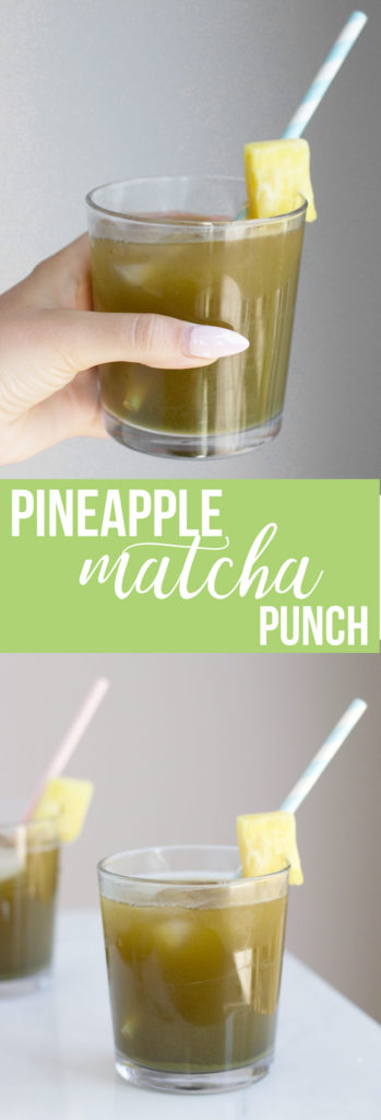 Make this healthy and refreshing pineapple matcha punch for a delicious summer drink!