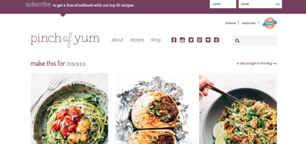 A Pinch of Yum Blog