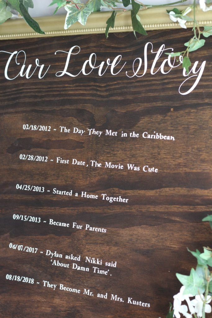 How to make your own Our Love Story sign for your wedding or wedding shower