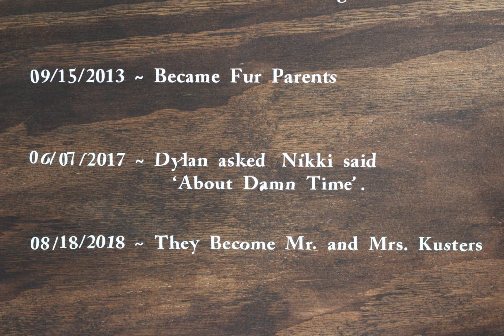 The timeline of our love story
