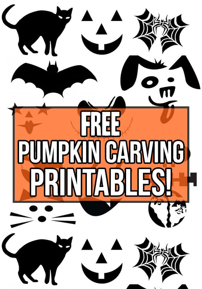 Instantly download and print these FREE pumpkin carving patterns and stencils for a perfect Jack-o-Lantern.