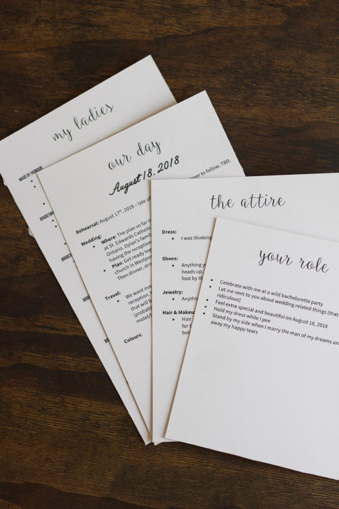 These bridesmaid proposal cards have all the info your ladies need for your big day!