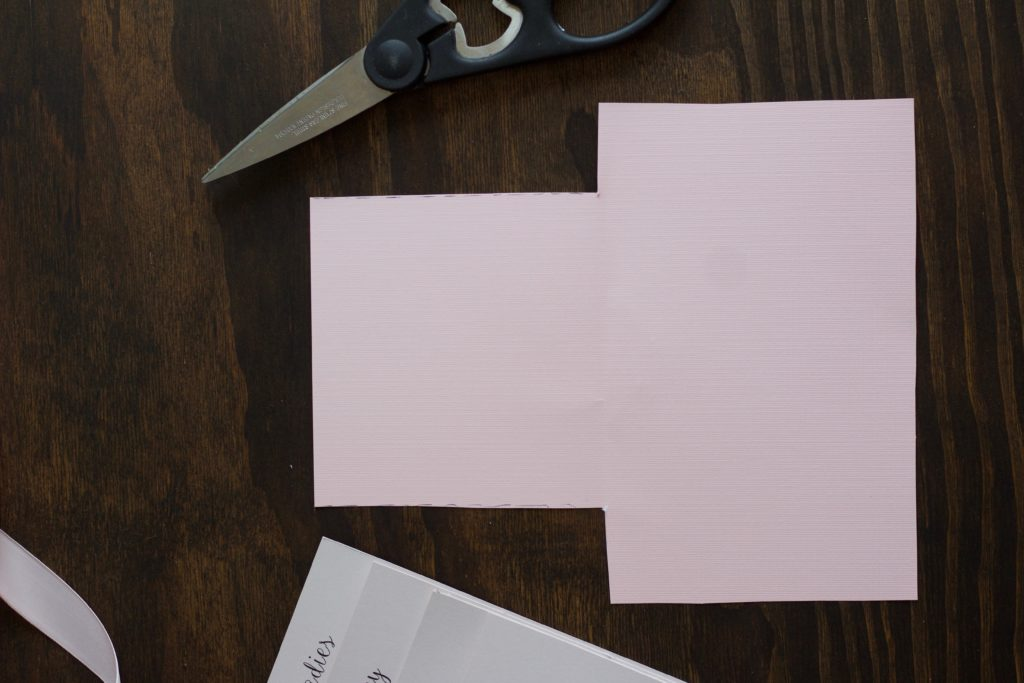 Creating a custom folder to hold your bridesmaid proposal info cards