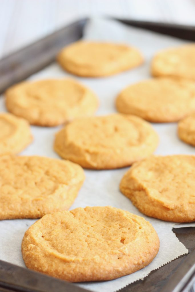 These easy vegan pumpkin cookies are made with all-natural pumpkin puree