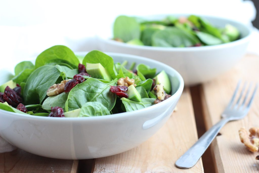 A cranberry walnut salad is a perfect light lunch that's healthy and satisfying in the summer