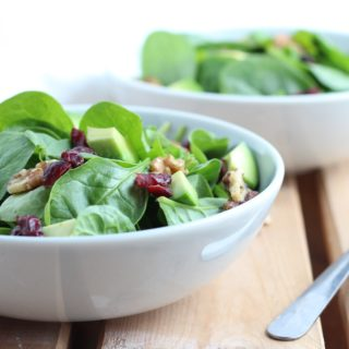 Cranberry Walnut Spinach Salad with Honey Ginger Dressing || Thanksgiving Salads || Easy and Quick