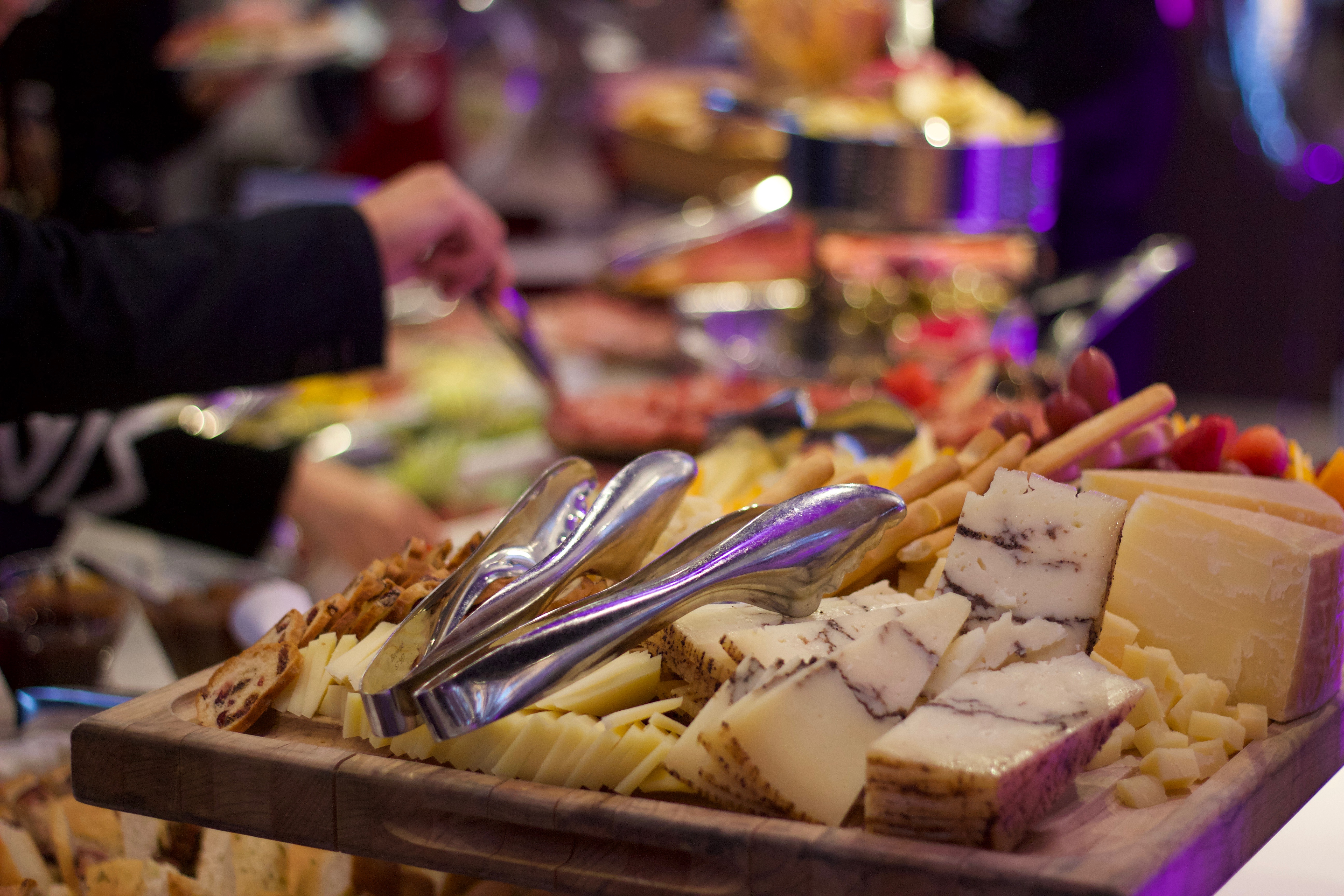A delicious cheese platter at Le Chateau Parc's food blogger event