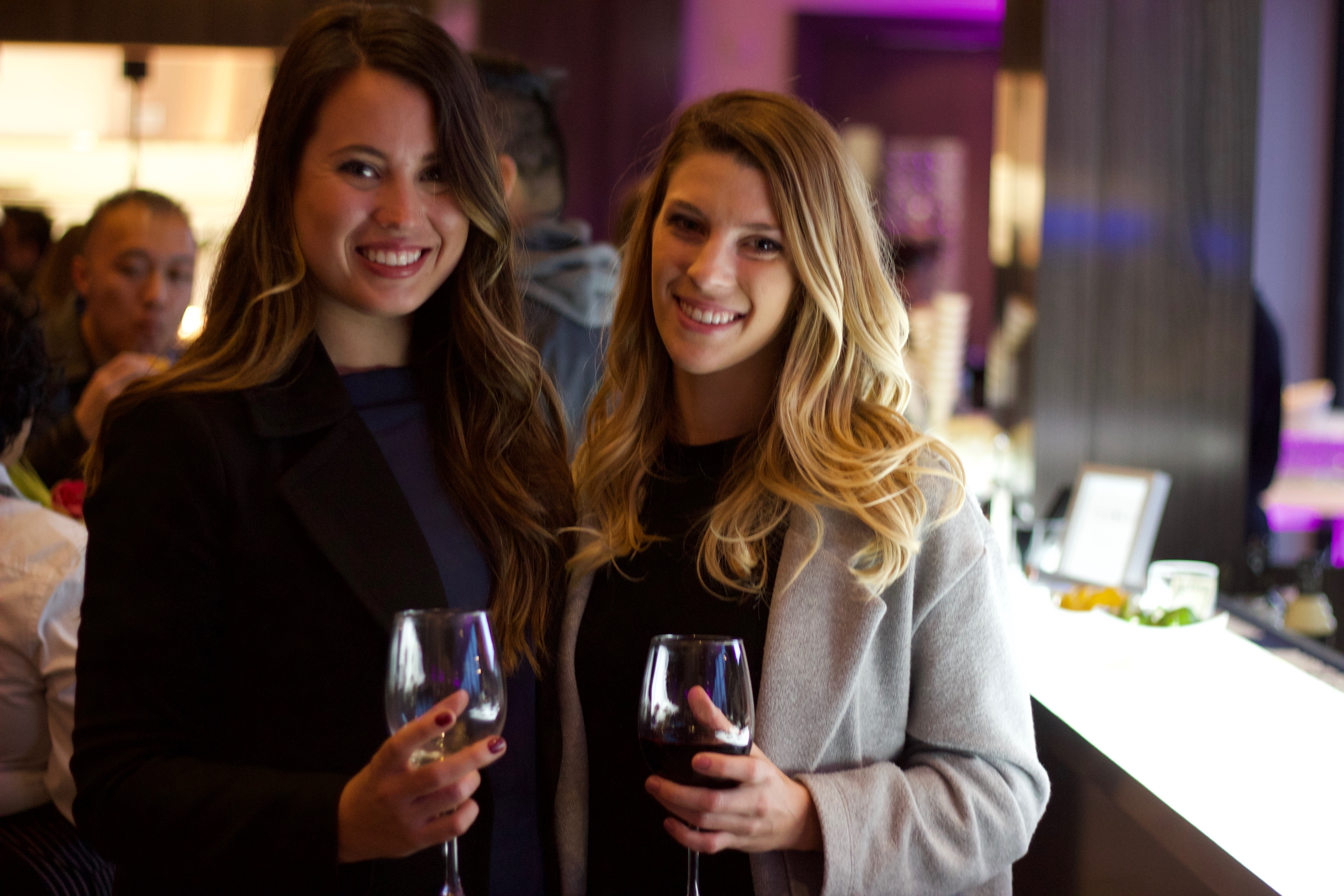 Enjoying a glass of wine at the Chateau Le Parc Vaughan Banquet Hall Vineyard Restaurant food blogger event!