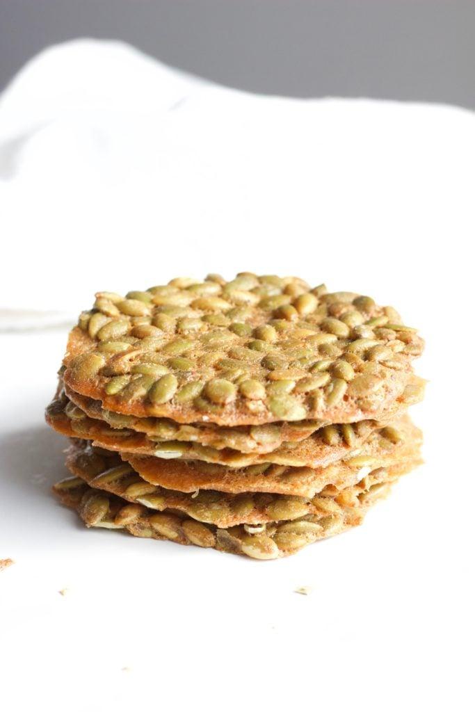 Healthy Pumpkin Seed Brittle - Gluten free, dairy free, healthy, healthier - sweet, salty, crunch