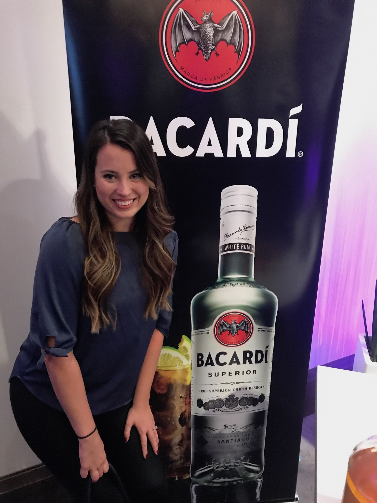 Le Chateau Parc served a delicious apple cider cocktail made with Bacardi rum