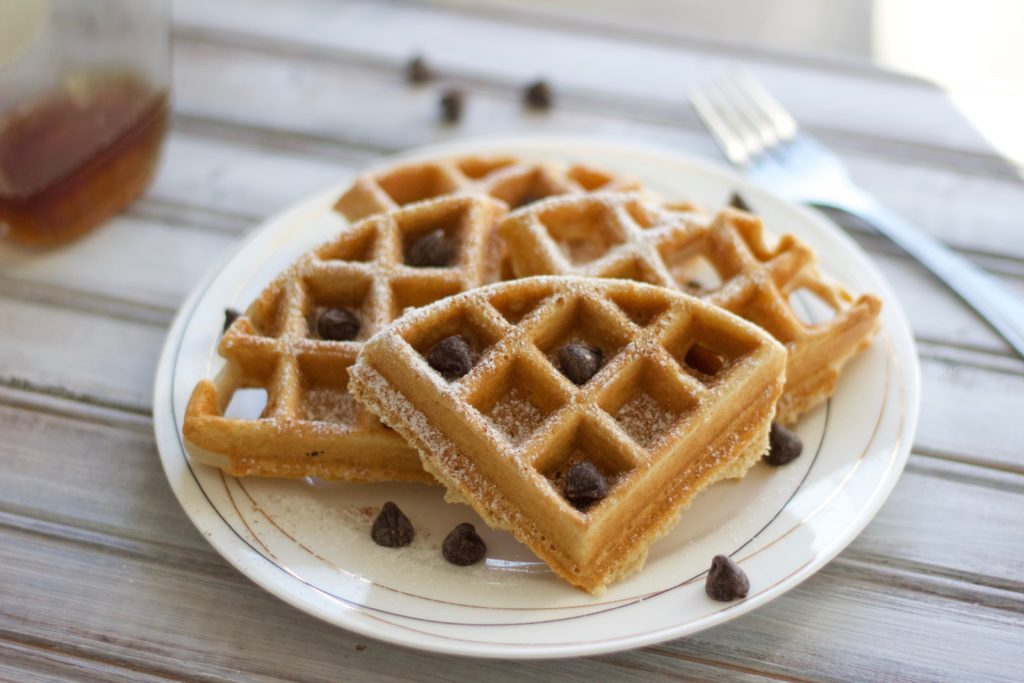 Light and fluffy dairy free waffles are a filling, delicious breakfast that's good for you!