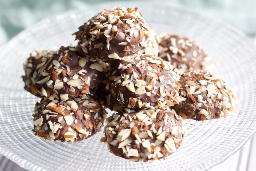 Chocolate dipped chestnut cookies are perfect for the holidays with the great taste of roasted chestnuts and sweet chocolate