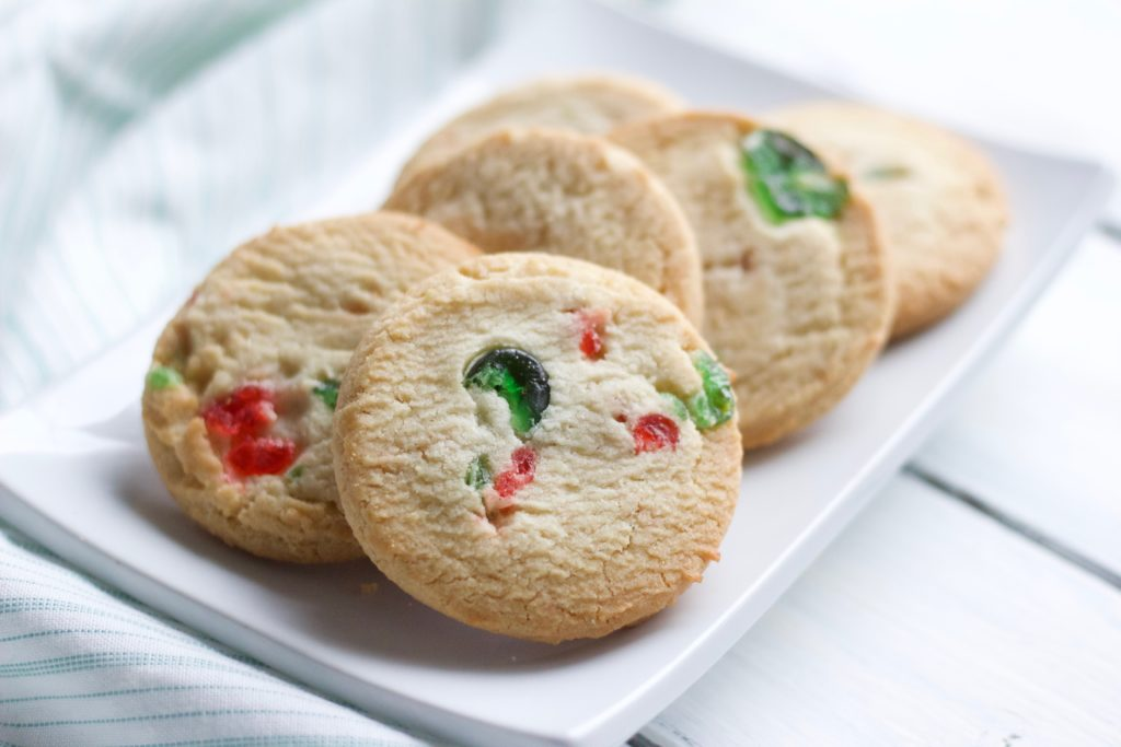 These delicious and easy gluten-free shortbread cookies are perfect for the dairy-free Christmas cookie lover!