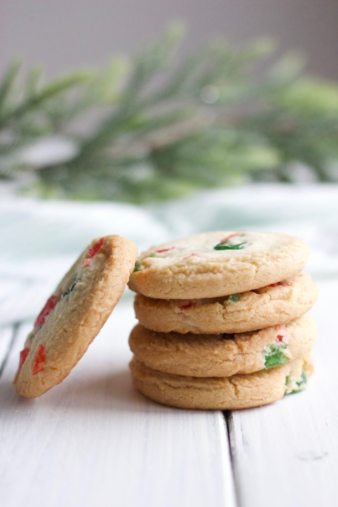 These super easy gluten-free shortbread cookies only call for 4 ingredients and are perfect for a Christmas cookie exchange