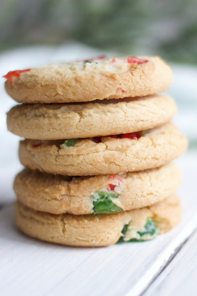 These 4-ingredient shortbread cookies are gluten-free and dairy-free, making them a great alternative to classic Christmas cookies