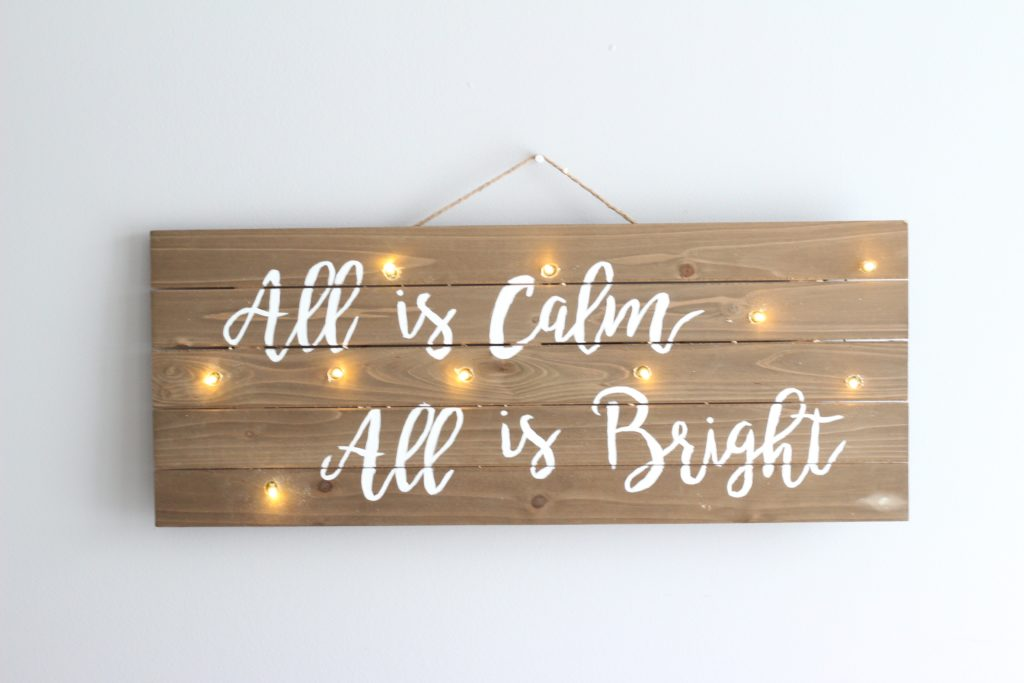 This DIY Christmas lights sign is a perfect gift!