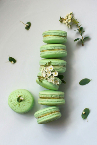 Green Tea Macrons are a fun and tasty St. Patrick's Day Recipe