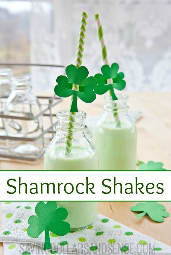 Homemade Shamrock Shakes are a healthier way to celebrate St. Patrick's Day