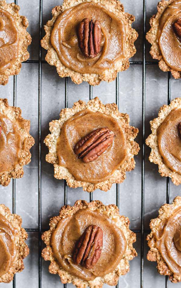 These vegan mini pecan pie bites are the perfect dessert for the holidays!