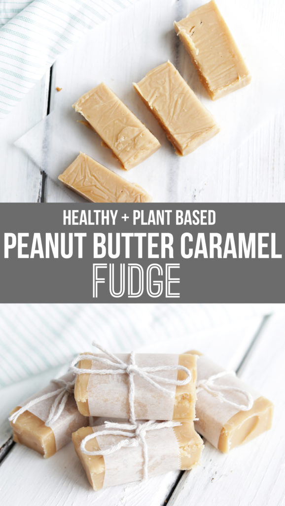 How to Make Healthy Fudge: This Vegan Peanut Butter and Caramel fudge recipe is a sweet but healthy treat that will satisfy even the most serious sweet tooth!