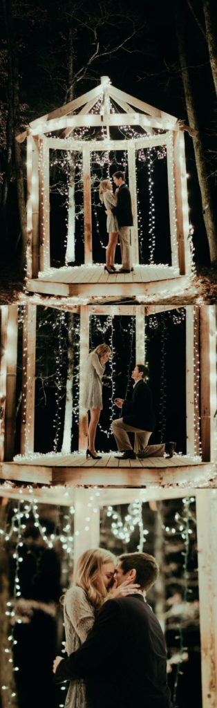 Go to your favorite place to pop the question--a place that holds a lot of meaning for you as a couple