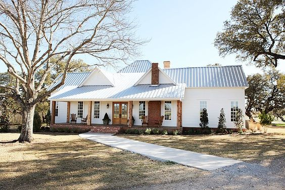 The Magnolia Farms home is the ultimate inspiration for a farmhouse style home exterior