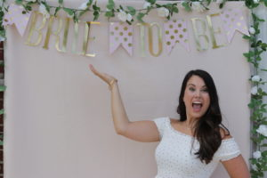 My Outdoor Bridal Shower; Pink, blush, gold and white. Games and greenery! Photo Booth backdrop display. Cookies,appetizersandspecial blush sangria. Decorating asmall tent. Wedding, engagement, bride.